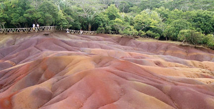 Seven Coloured Earth in Mauritius island